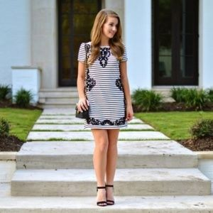 ANTHROPOLOGIE Scrolled Stripes Tunic Dress {LL5}